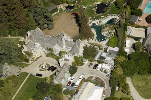 Playboy Mansion Bird's Eye View