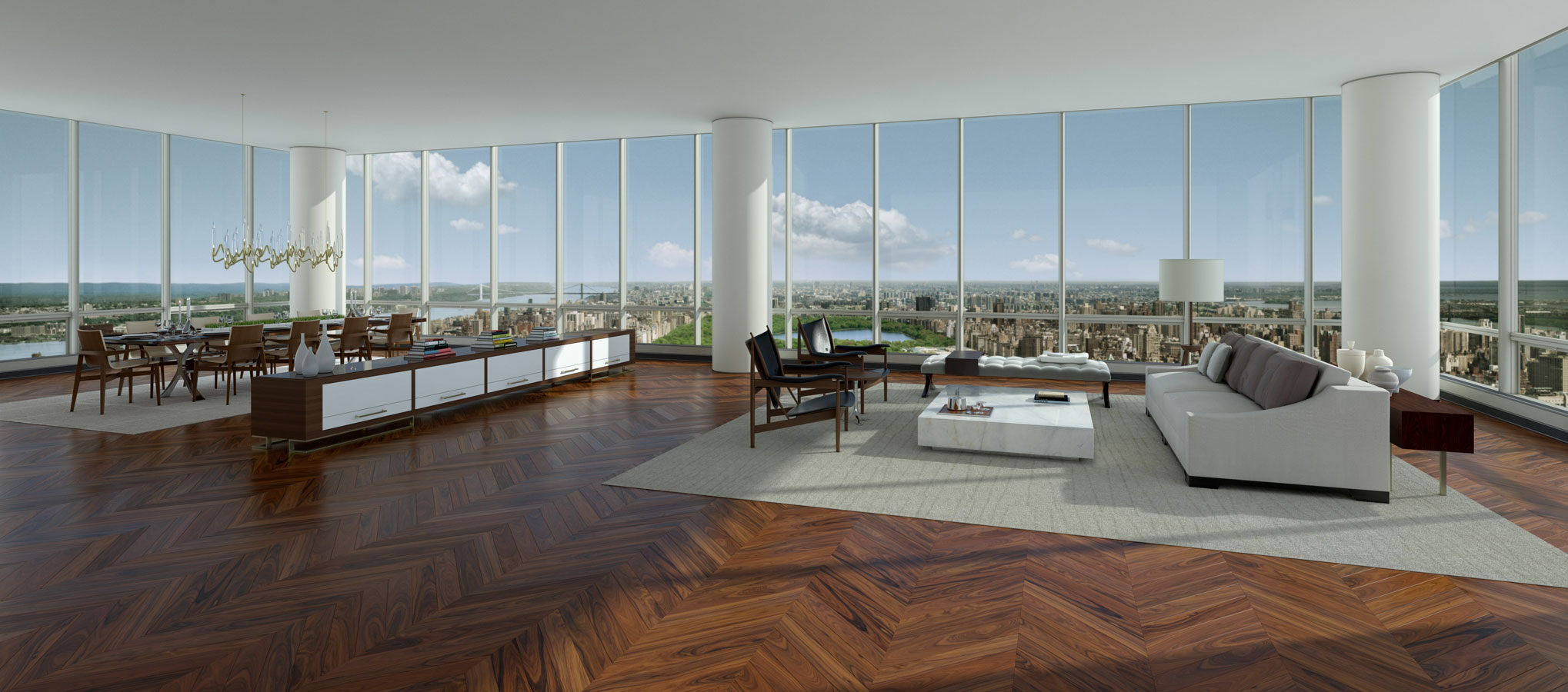 7 most expensive penthouses in the u s for Expensive penthouses in nyc