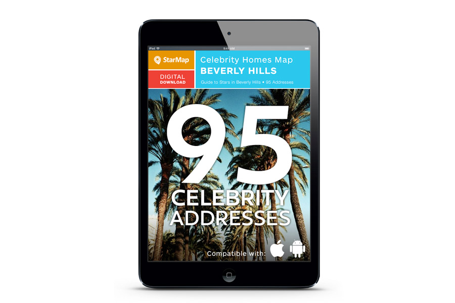 Starmap city guide and celebrity homes map for Beverly hills celebrity homes map