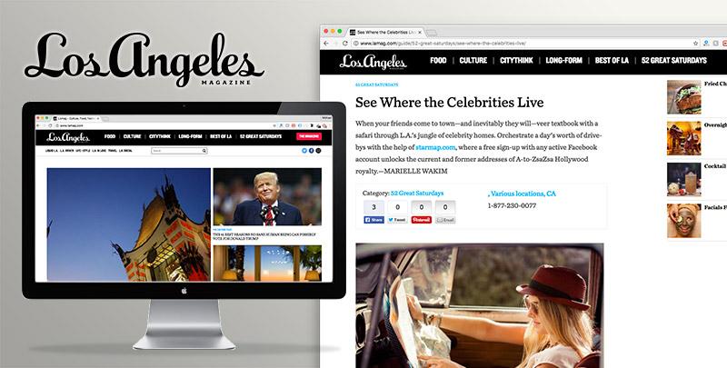 Los Angeles Magazine Press Review of StarMap.com