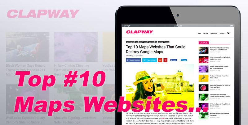 Top Map Websites Feature